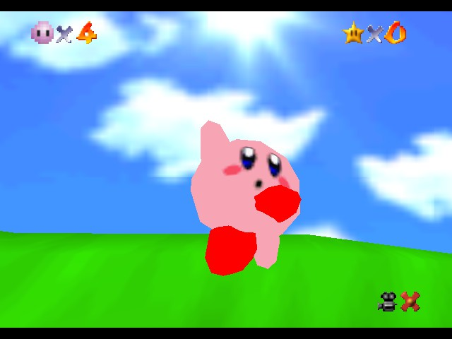 Super Mario 64 - Kirby Edition - Woooooooooooooh!!!! - User Screenshot